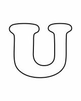 Imprimer le coloriage : Lettre u, numéro 673623