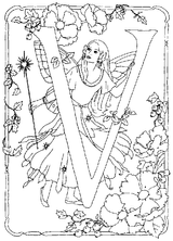 Imprimer le coloriage : Lettre v, numéro 125247