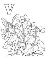 Imprimer le coloriage : Lettre v, numéro 52711