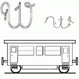 Imprimer le coloriage : Lettre w, numéro 52719