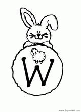 Imprimer le coloriage : Lettre w, numéro 52720