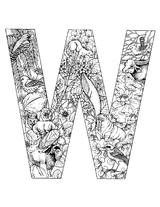 Imprimer le coloriage : Lettre w, numéro 52725