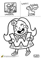 Imprimer le coloriage : Chiffres-et-formes - Alphabet - Lettre-w numéro 52726