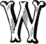 Imprimer le coloriage : Lettre w, numéro 67171