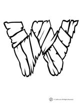 Imprimer le coloriage : Chiffres-et-formes - Alphabet - Lettre-w numéro 760403