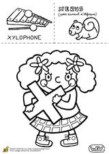Imprimer le coloriage : Lettre x, numéro 67185