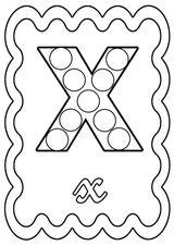 Imprimer le coloriage : Lettre x, numéro 7623ecdd