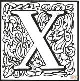 Imprimer le coloriage : Lettre x, numéro ea6dca08