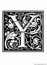 Imprimer le coloriage : Lettre y, numéro 125286