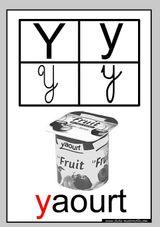 Imprimer le coloriage : Lettre y, numéro 368698