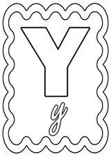 Imprimer le coloriage : Lettre y, numéro 673639