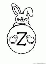 Imprimer le coloriage : Lettre z, numéro 307869