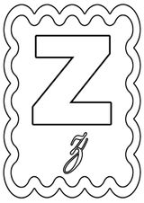 Imprimer le coloriage : Lettre z, numéro 365273