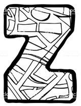 Imprimer le coloriage : Lettre z, numéro 5dd2f256