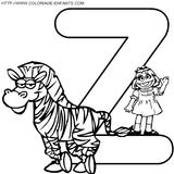 Imprimer le coloriage : Lettre z, numéro 67236