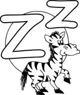 Imprimer le coloriage : Lettre z, numéro 6beb4103
