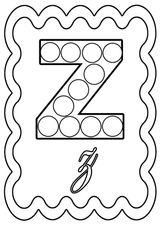 Imprimer le coloriage : Lettre z, numéro 8d7157e9