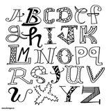 Imprimer le coloriage : Alphabet, numéro cbf0e176