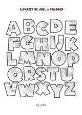 Imprimer le coloriage : Alphabet, numéro d6ef4263