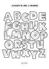 Imprimer le coloriage : Alphabet, numéro f22760e5