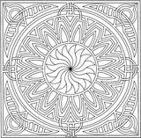 Imprimer le coloriage : Carré, numéro 17304