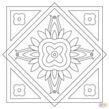 Imprimer le coloriage : Carré, numéro d6dc08ca