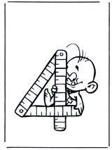 Imprimer le dessin en couleurs : Chiffre quatre, numéro 12697