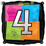 Imprimer le dessin en couleurs : Chiffre quatre, numéro 12700