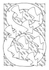 Imprimer le coloriage : Chiffre quatre, numéro 17368