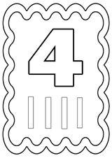 Imprimer le coloriage : Chiffre quatre, numéro 426563