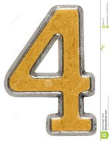 Imprimer le dessin en couleurs : Chiffre quatre, numéro fd24ccee
