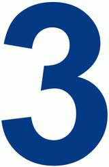 Imprimer le dessin en couleurs : Chiffre trois, numéro 21264