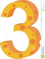 Imprimer le dessin en couleurs : Chiffre trois, numéro 3a49e8f9