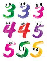 Imprimer le dessin en couleurs : Chiffre trois, numéro ce1e9361