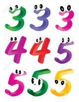 Imprimer le dessin en couleurs : Chiffre trois, numéro d83c1276
