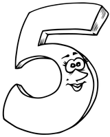 Imprimer le coloriage : Chiffre un, numéro 9d3f26d1