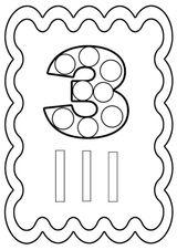 Imprimer le coloriage : Chiffre un, numéro bac1f7f7