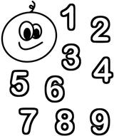 Imprimer le coloriage : Chiffre un, numéro e05a0e