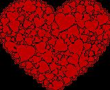 Imprimer le dessin en couleurs : Coeur, numéro 180044