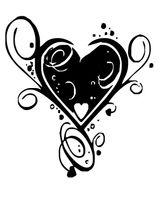 Imprimer le coloriage : Coeur, numéro 26264