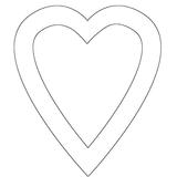 Imprimer le coloriage : Coeur, numéro 3636