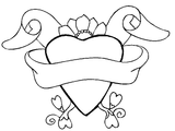 Imprimer le coloriage : Coeur, numéro 647