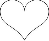 Imprimer le coloriage : Coeur, numéro 7303
