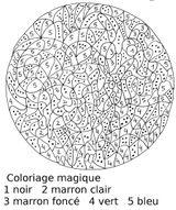 Imprimer le coloriage : Coloriages magiques, numéro 758796