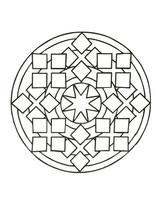 Imprimer le coloriage : Rond, numéro 2bd20c4b
