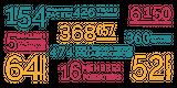 Imprimer le dessin en couleurs : Tous les chiffres, numéro 6d35b65b