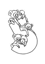 Imprimer le coloriage : Chiffre 5, numéro 394712