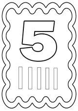 Imprimer le coloriage : Chiffre 5, numéro 394723