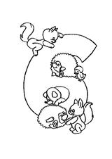 Imprimer le coloriage : Chiffre 6, numéro 394734