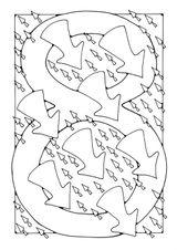 Imprimer le coloriage : Chiffre 8, numéro 417415